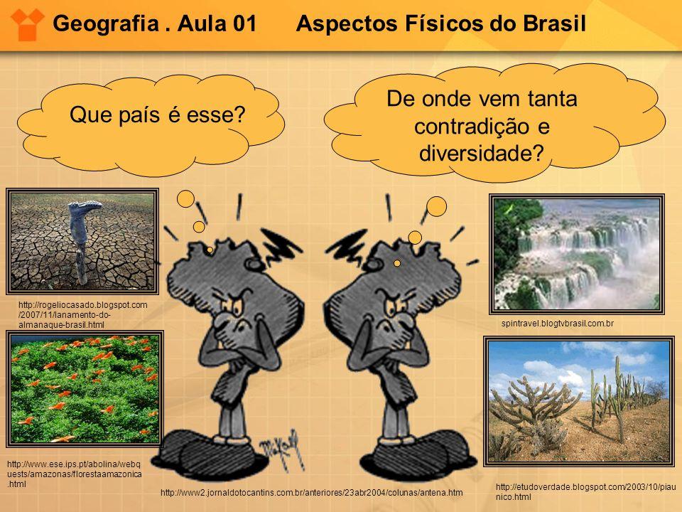 Geografia . Aula 01 Aspectos Físicos do Brasil