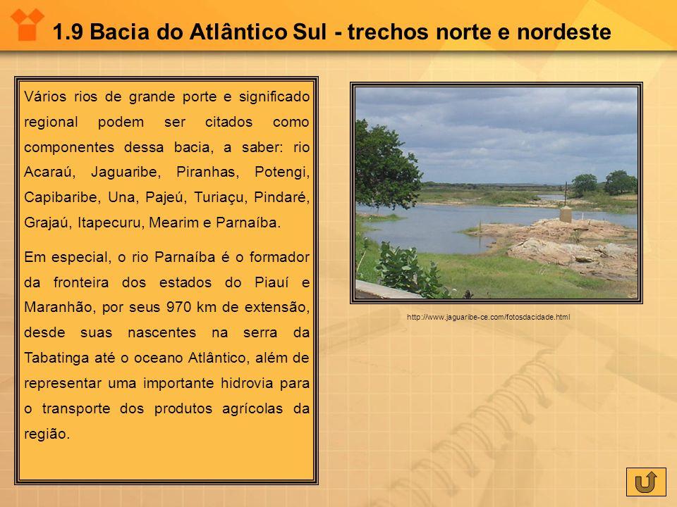 1.9 Bacia do Atlântico Sul - trechos norte e nordeste