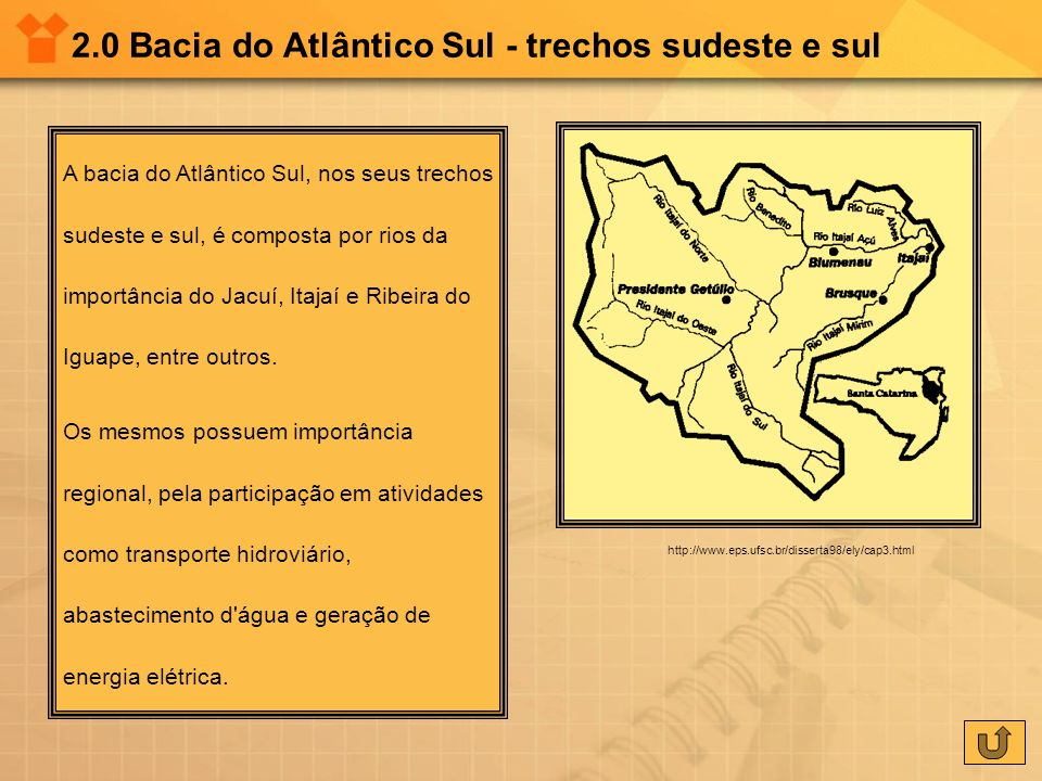 2.0 Bacia do Atlântico Sul - trechos sudeste e sul