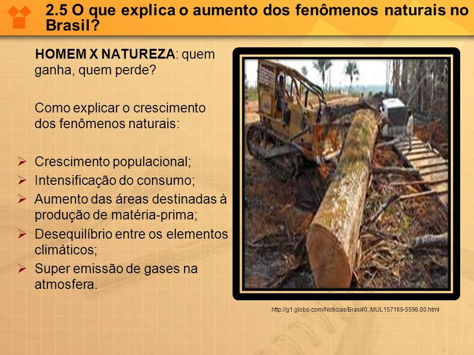 2.5 O que explica o aumento dos fenômenos naturais no Brasil
