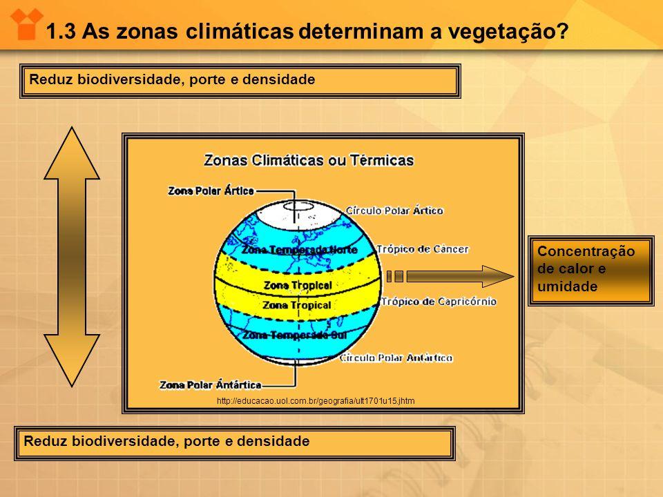 1.3 As zonas climáticas determinam a vegetação