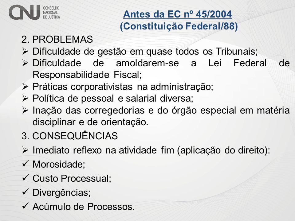 Antes da EC nº 45/2004 (Constituição Federal/88)