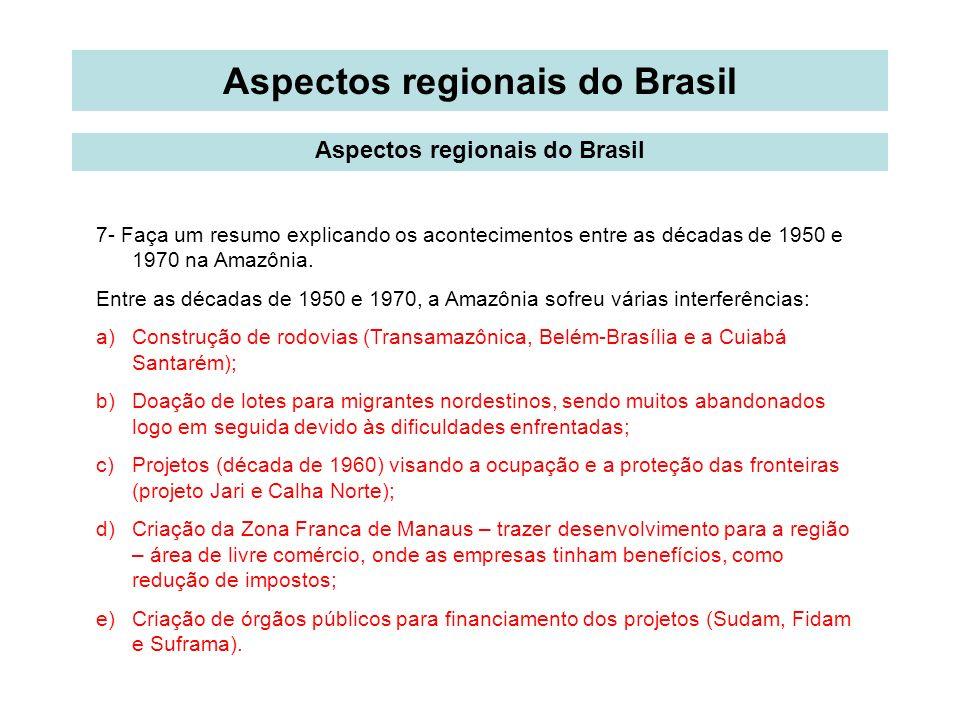 Aspectos regionais do Brasil