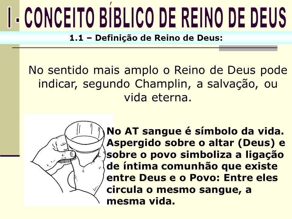 I - CONCEITO BÍBLICO DE REINO DE DEUS