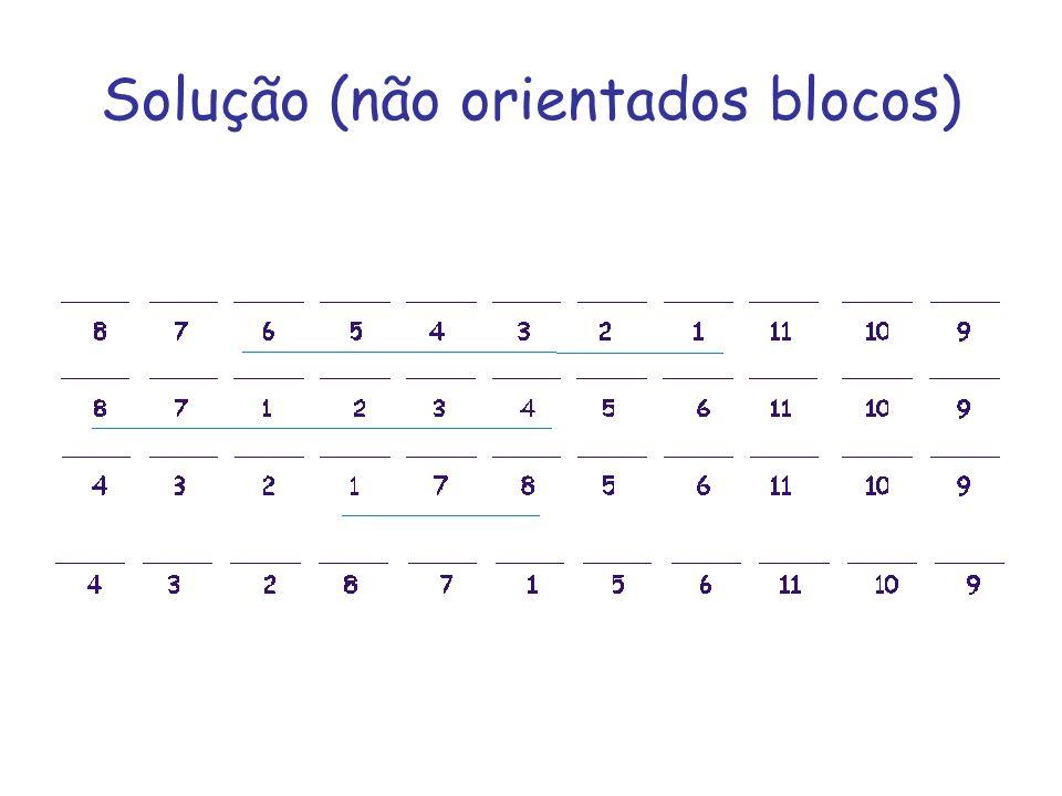 Solução (não orientados blocos)