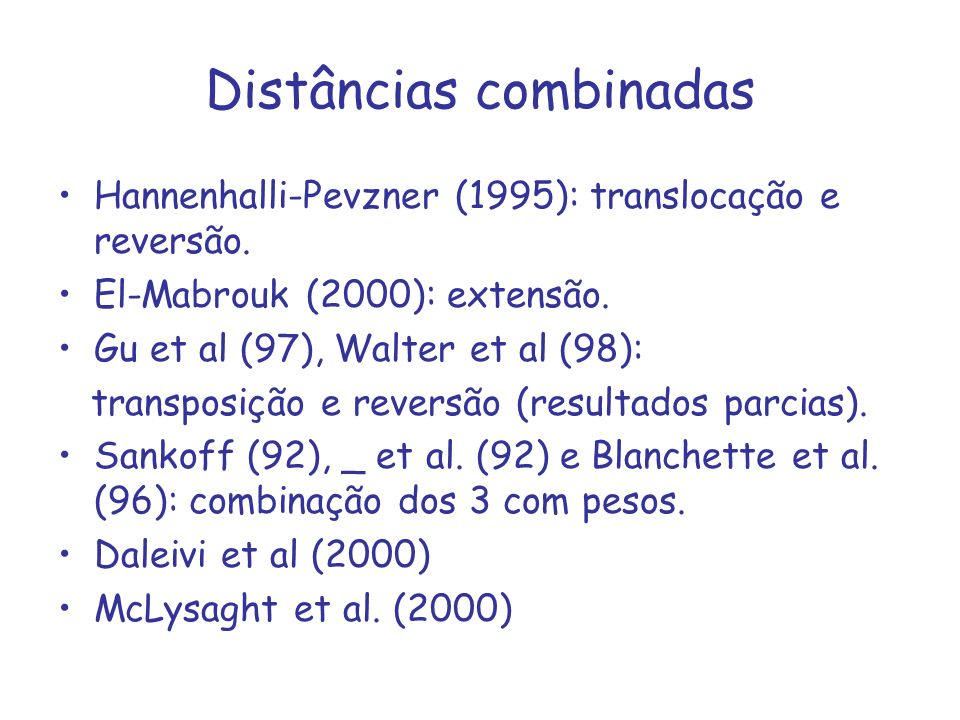 Distâncias combinadas