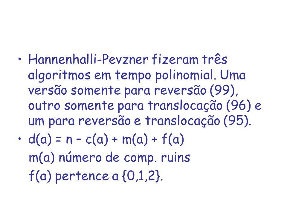 Hannenhalli-Pevzner fizeram três algoritmos em tempo polinomial
