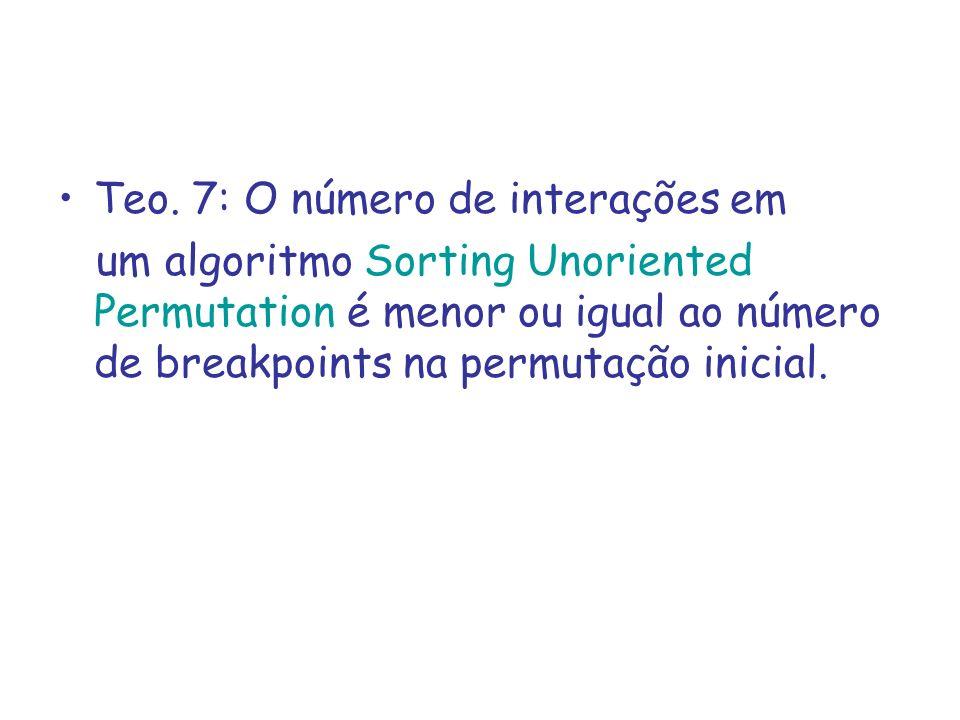 Teo. 7: O número de interações em