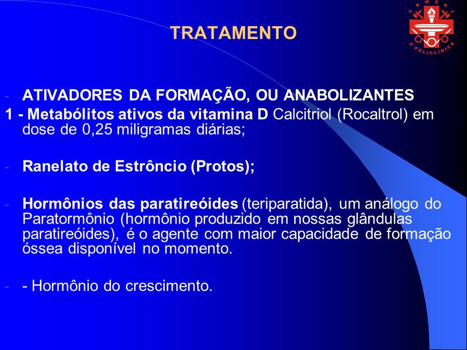 TRATAMENTO ATIVADORES DA FORMAÇÃO, OU ANABOLIZANTES