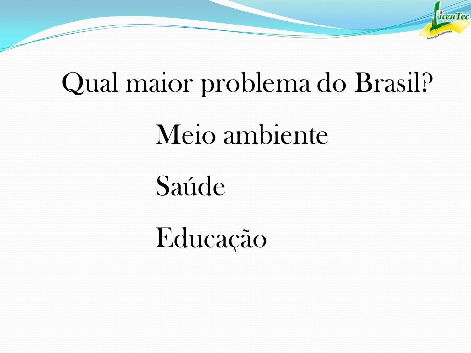 Qual maior problema do Brasil