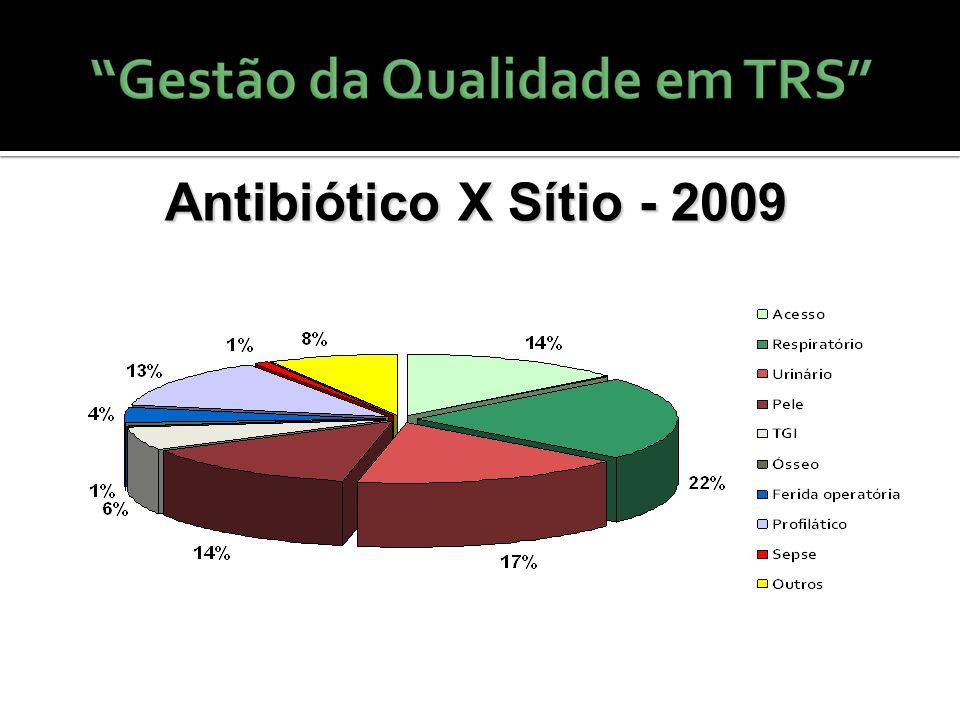 Antibiótico X Sítio - 2009 27