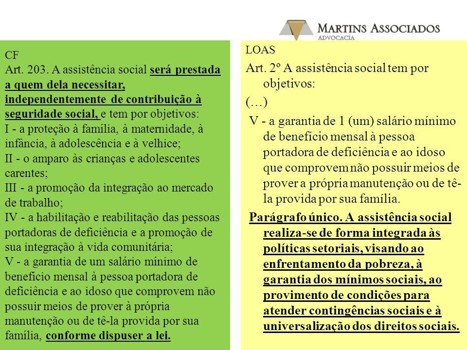Art. 2º A assistência social tem por objetivos: (…)