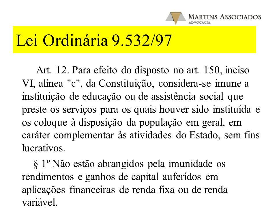 Lei Ordinária 9.532/97