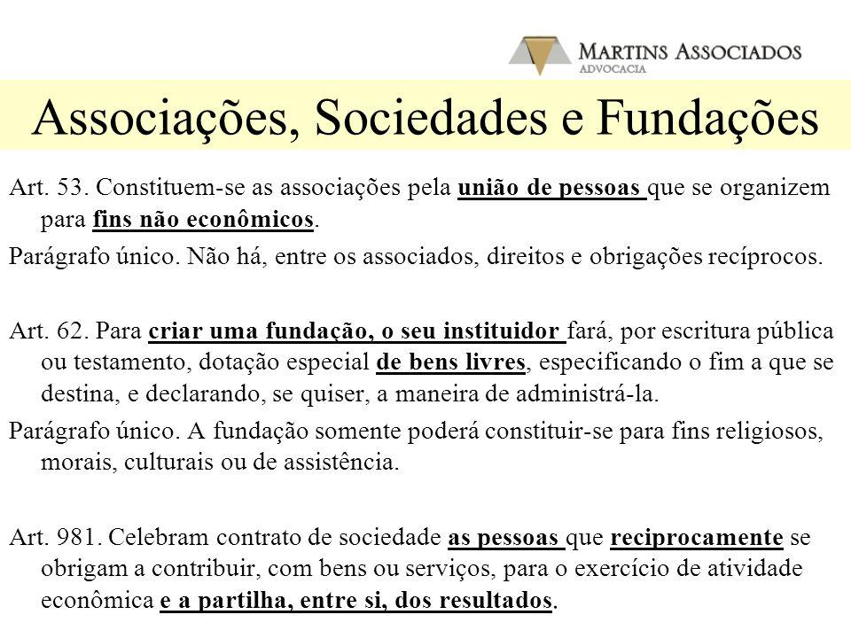 Associações, Sociedades e Fundações