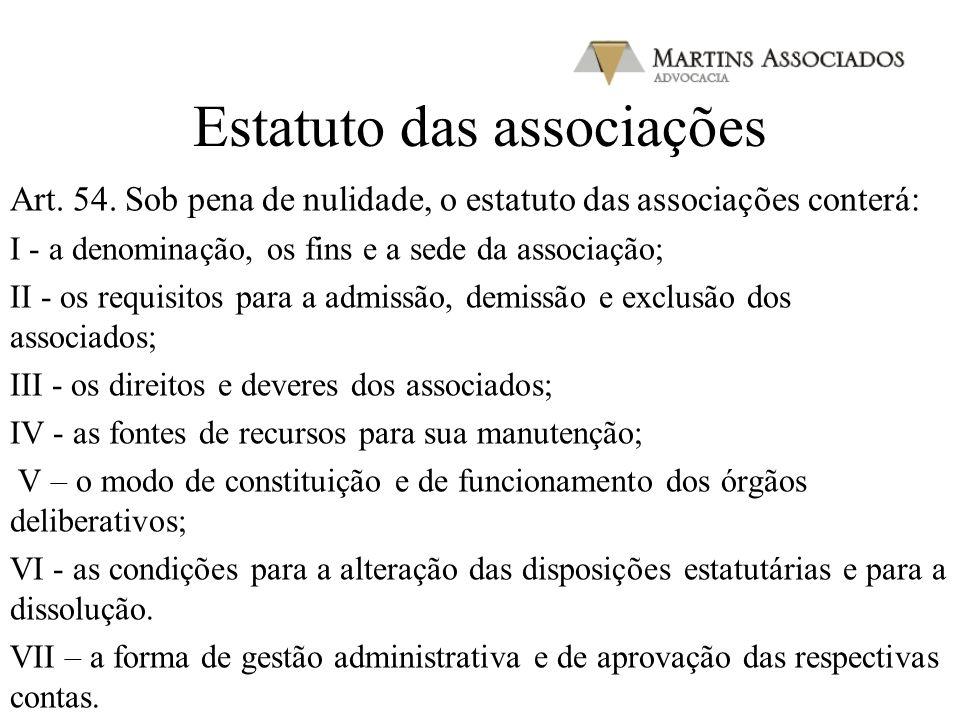 Estatuto das associações