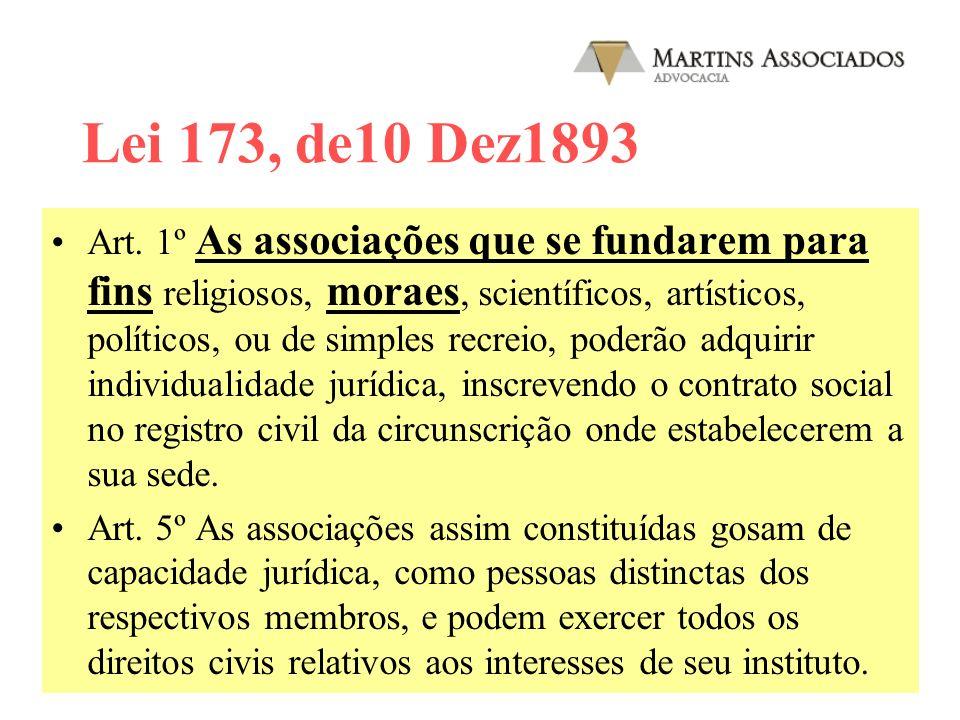 Lei 173, de10 Dez1893