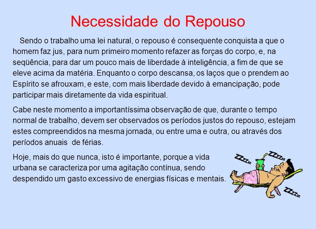 Necessidade do Repouso