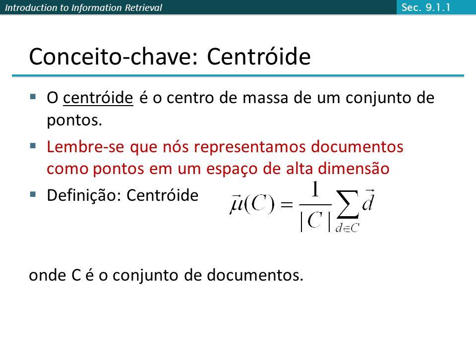Conceito-chave: Centróide