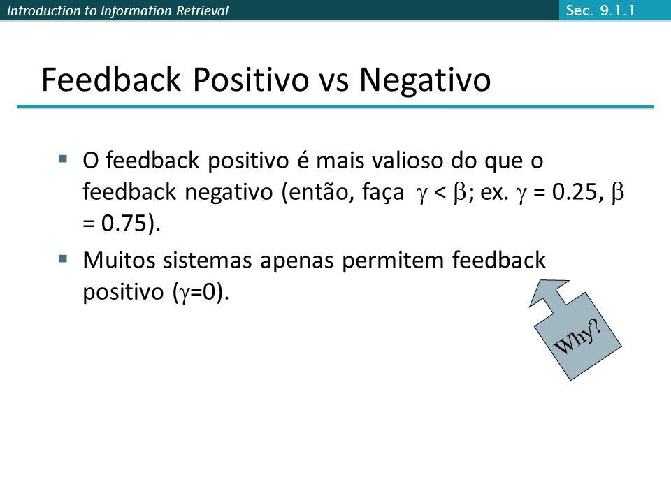 Feedback Positivo vs Negativo
