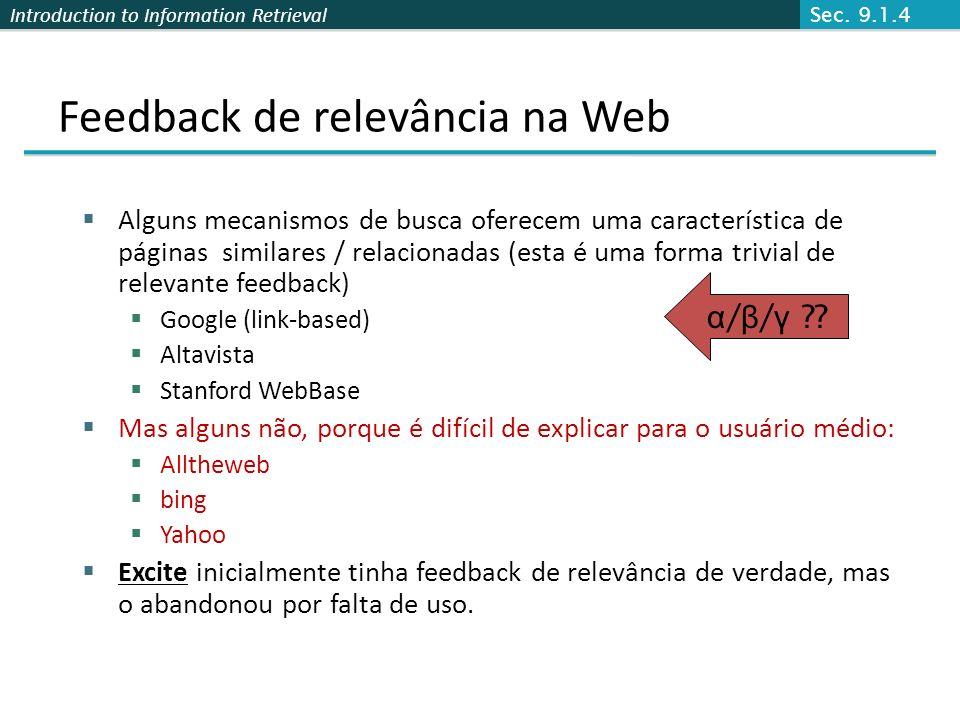 Feedback de relevância na Web