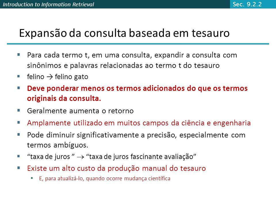 Expansão da consulta baseada em tesauro