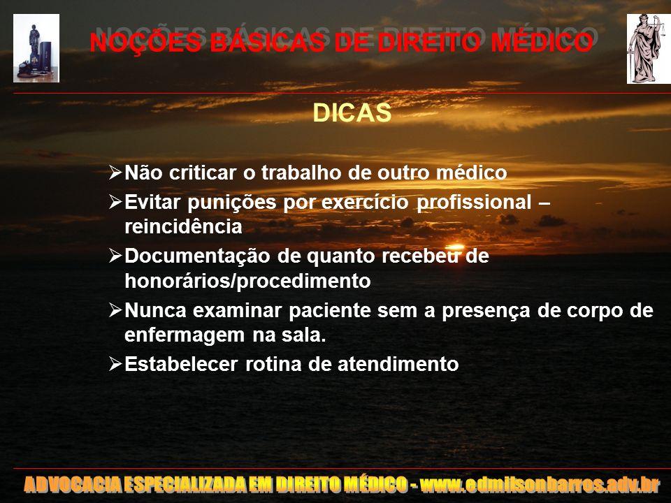 NOÇÕES BÁSICAS DE DIREITO MÉDICO