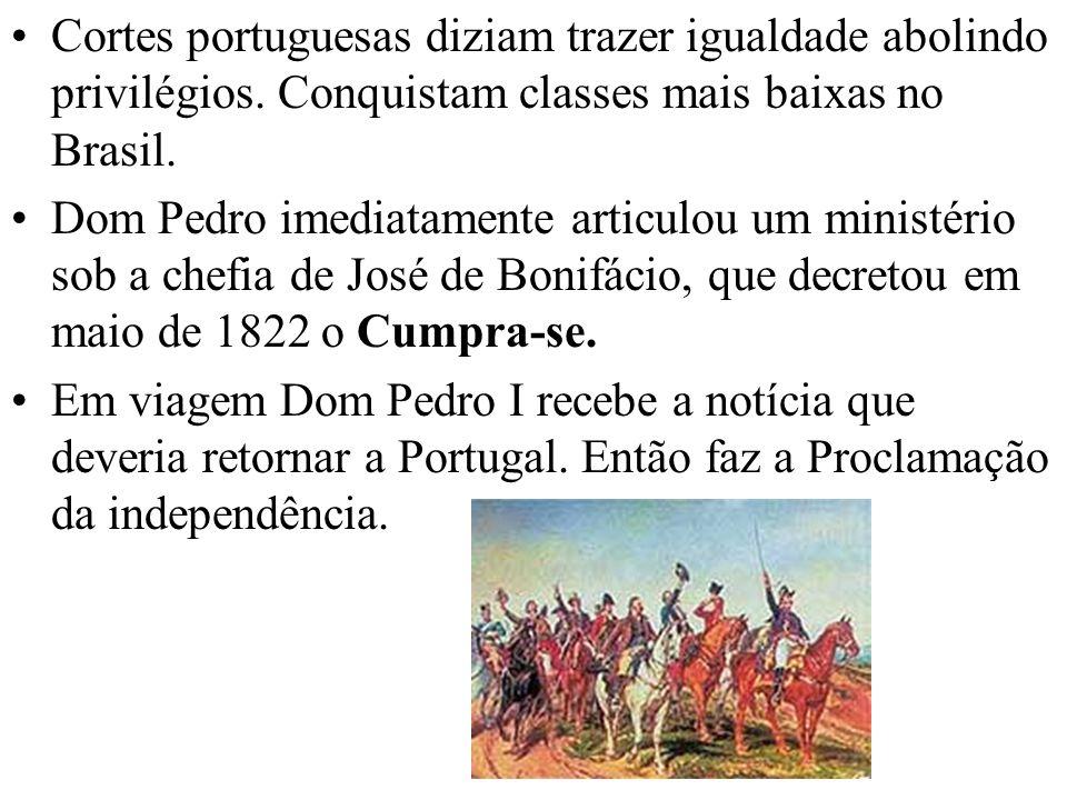 Cortes portuguesas diziam trazer igualdade abolindo privilégios