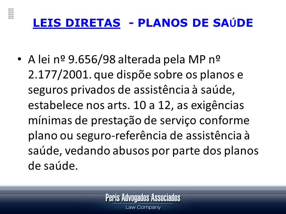 LEIS DIRETAS - PLANOS DE SAÚDE