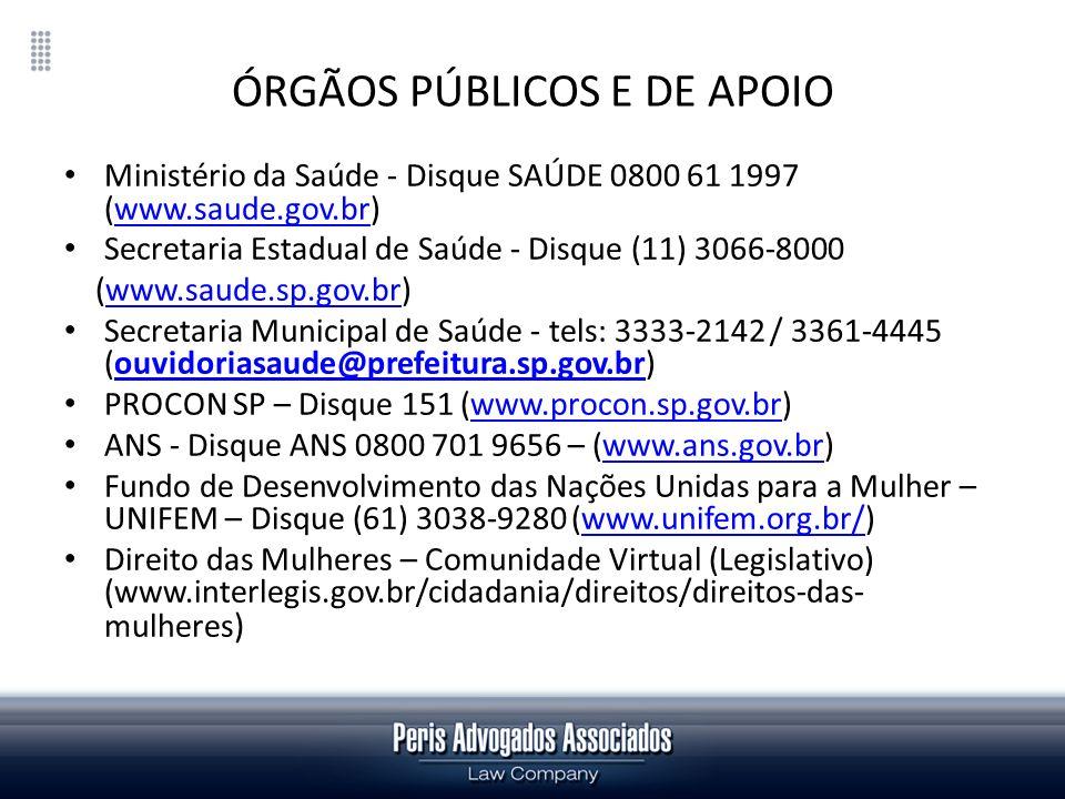 ÓRGÃOS PÚBLICOS E DE APOIO