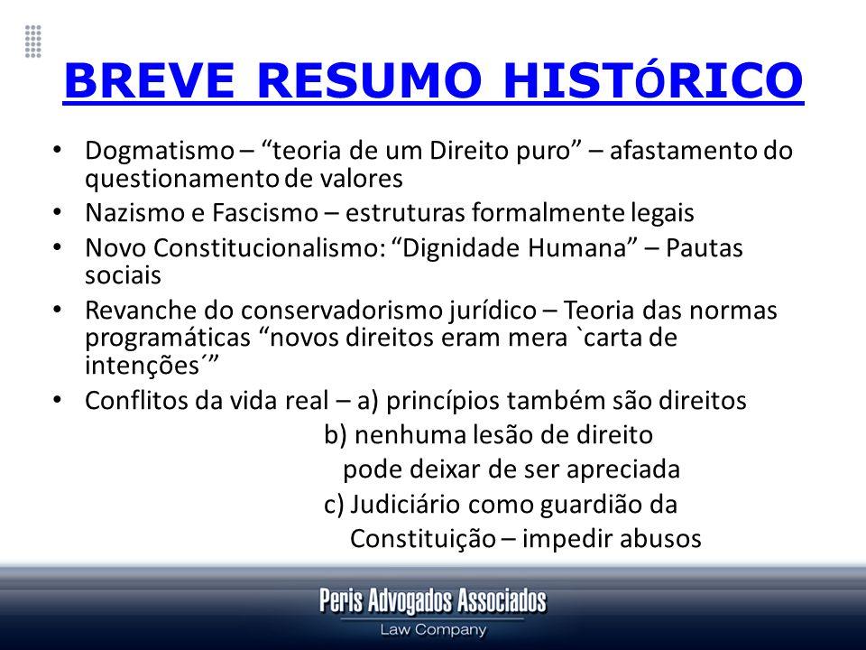 BREVE RESUMO HISTÓRICO