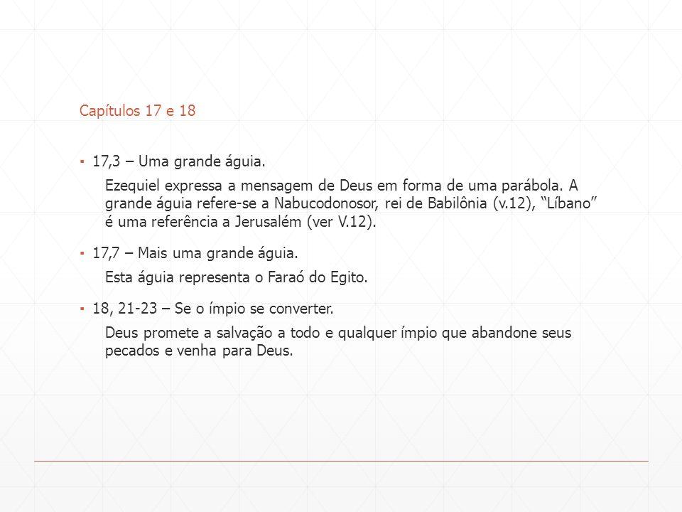 Capítulos 17 e 18 17,3 – Uma grande águia.