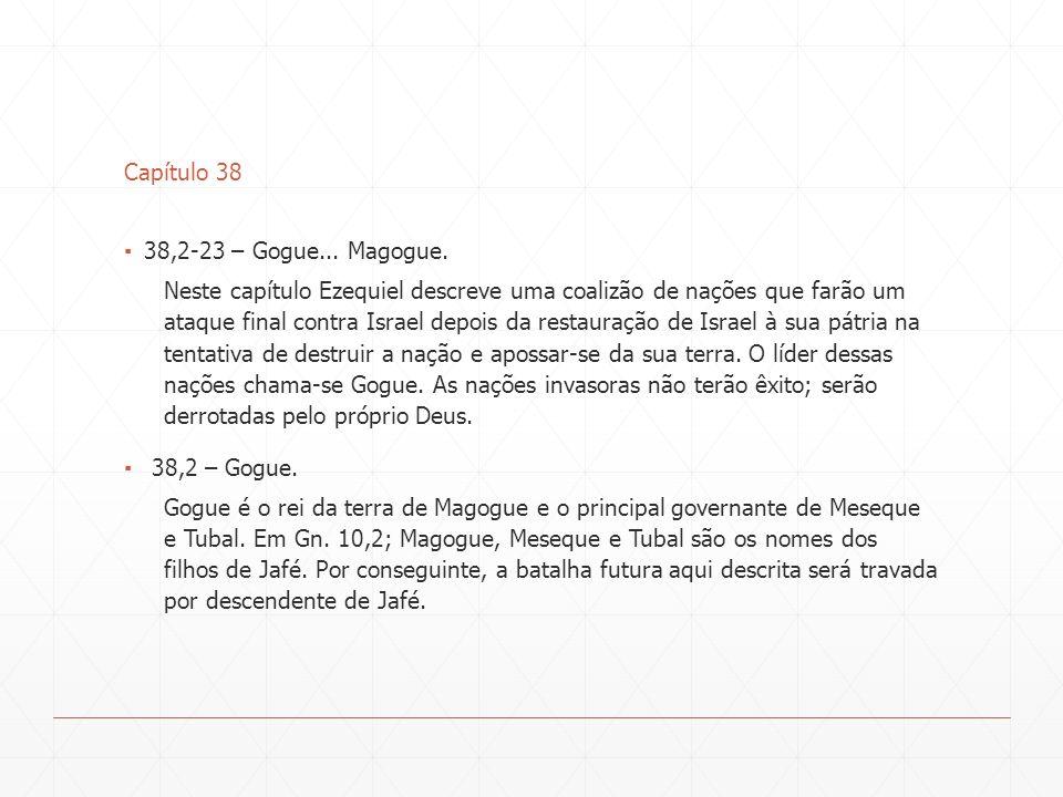 Capítulo 38 38,2-23 – Gogue... Magogue.
