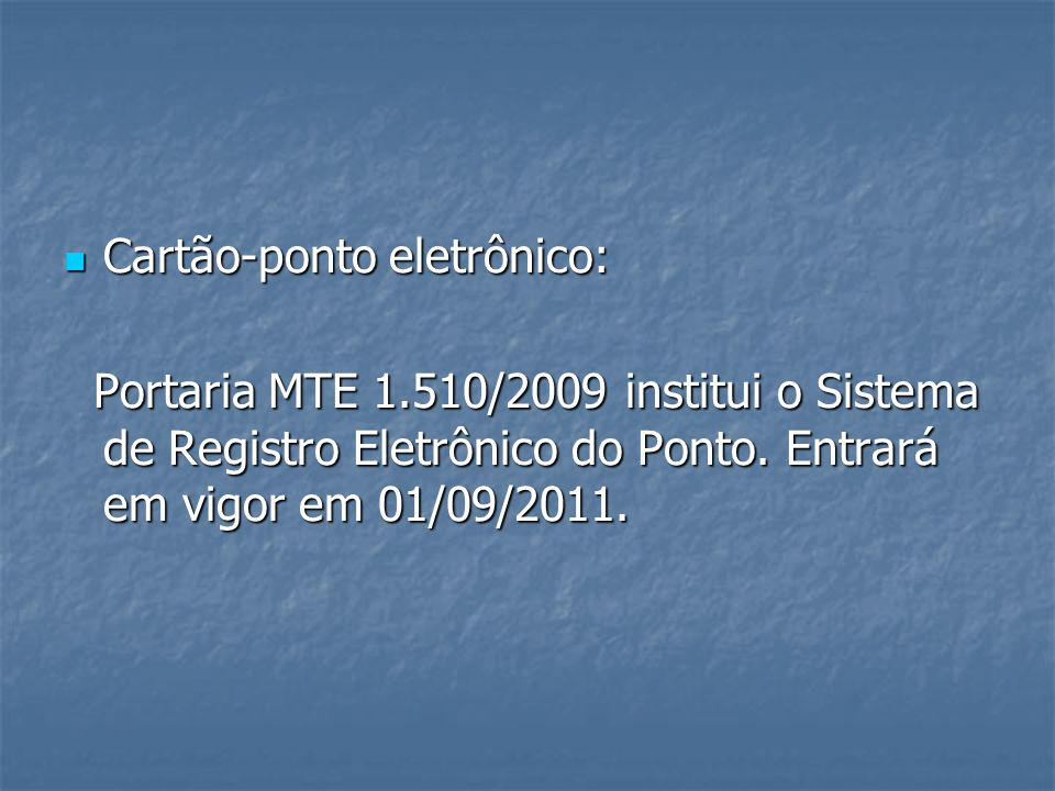 Cartão-ponto eletrônico: