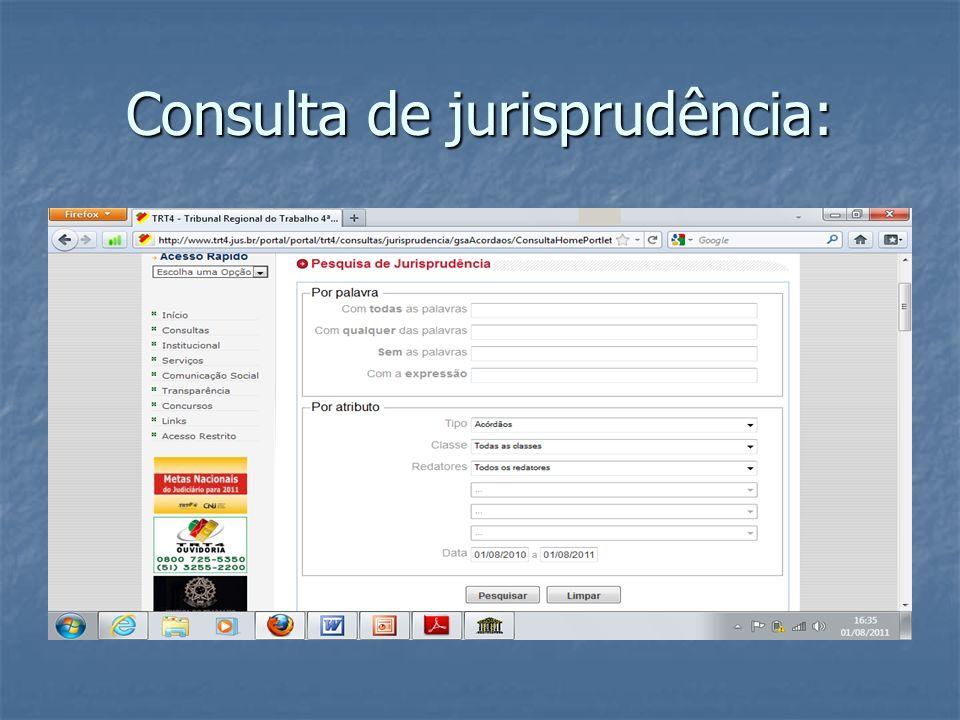 Consulta de jurisprudência:
