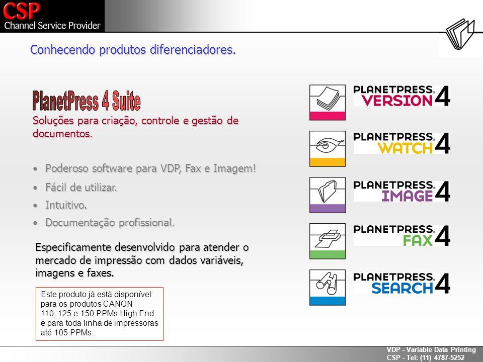 PlanetPress 4 Suite Conhecendo produtos diferenciadores.