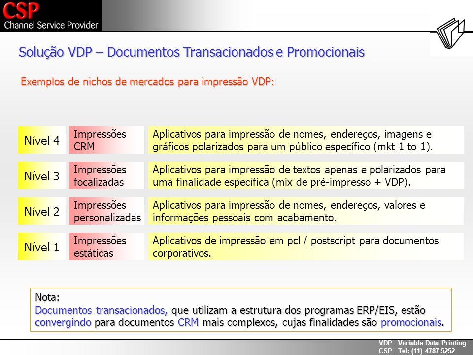 Solução VDP – Documentos Transacionados e Promocionais