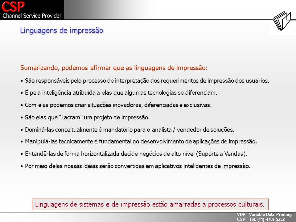 Linguagens de impressão