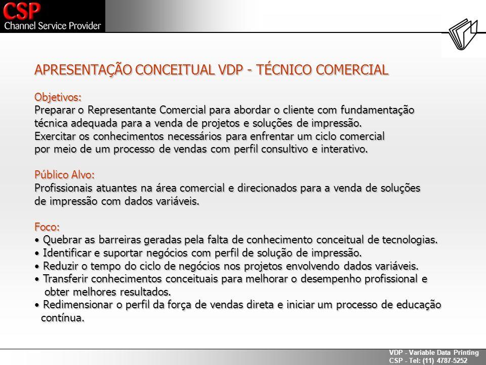 APRESENTAÇÃO CONCEITUAL VDP - TÉCNICO COMERCIAL