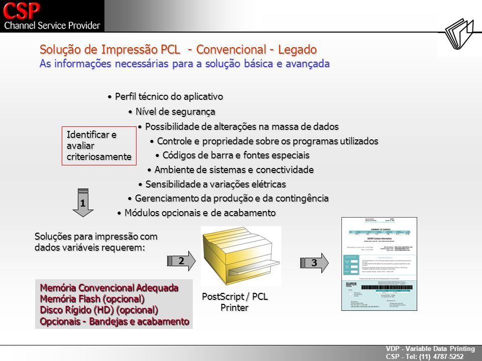 Solução de Impressão PCL - Convencional - Legado