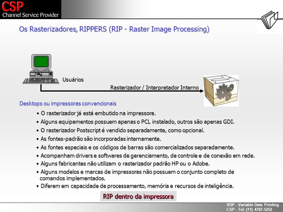 Os Rasterizadores, RIPPERS (RIP - Raster Image Processing)
