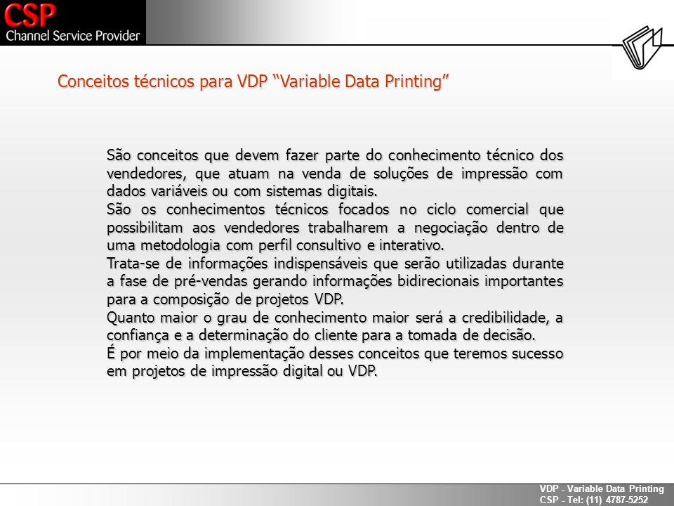 Conceitos técnicos para VDP Variable Data Printing