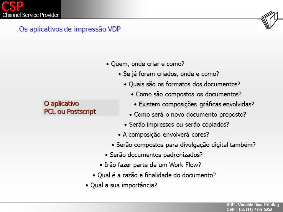 Os aplicativos de impressão VDP