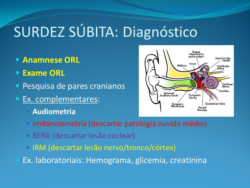 SURDEZ SÚBITA: Diagnóstico
