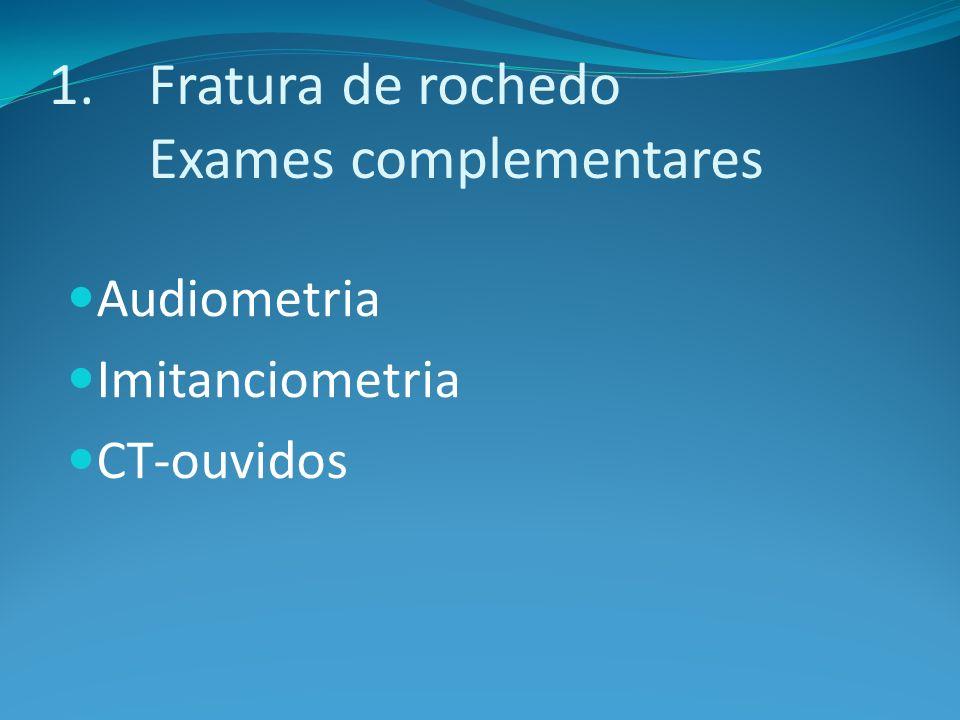 Fratura de rochedo Exames complementares