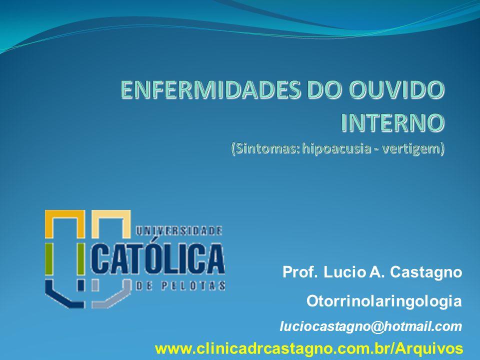 ENFERMIDADES DO OUVIDO INTERNO (Sintomas: hipoacusia - vertigem)