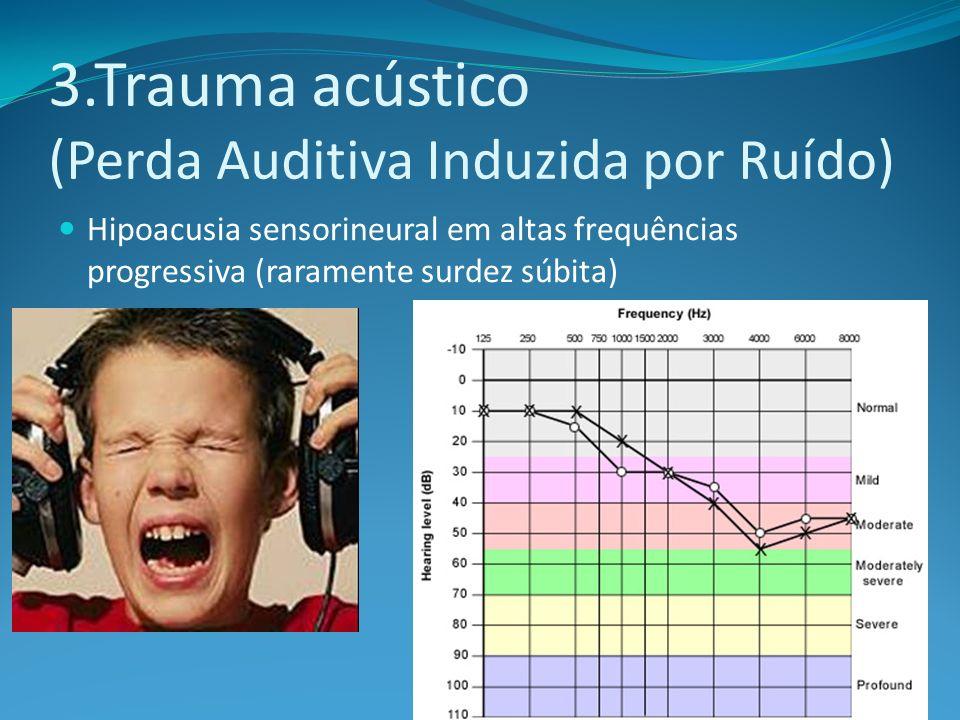 3.Trauma acústico (Perda Auditiva Induzida por Ruído)