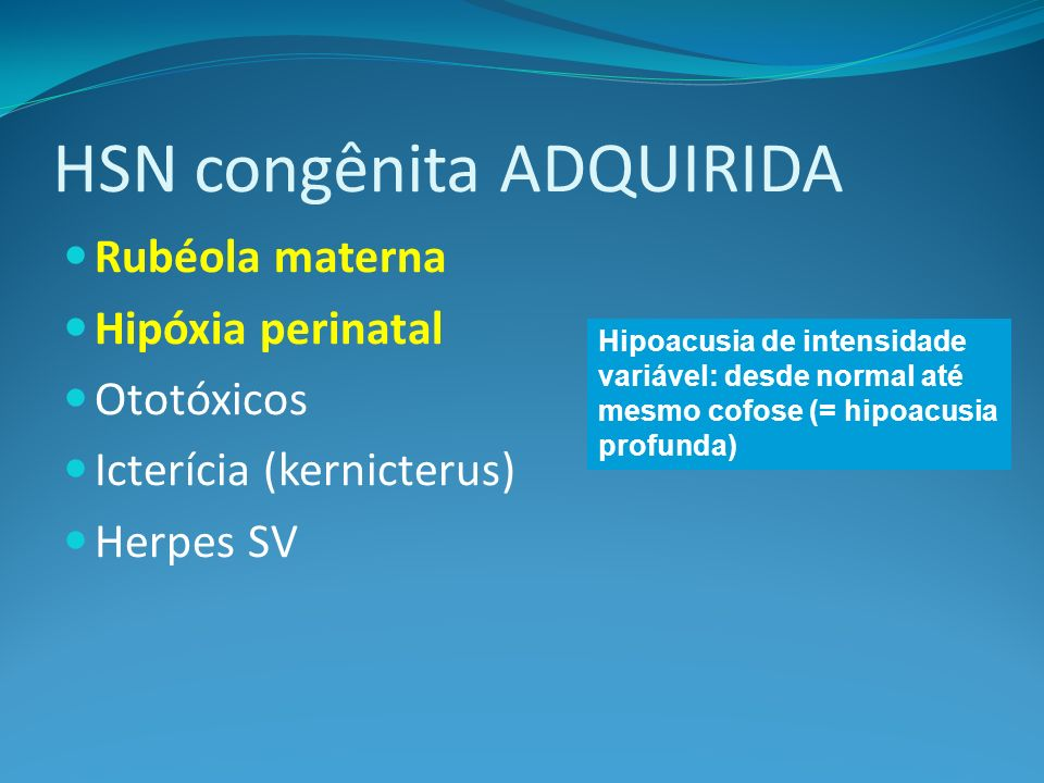 HSN congênita ADQUIRIDA