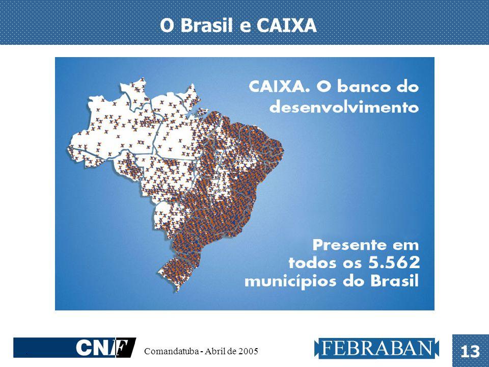 O Brasil e CAIXA . Comandatuba - Abril de 2005