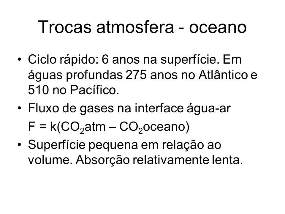 Trocas atmosfera - oceano