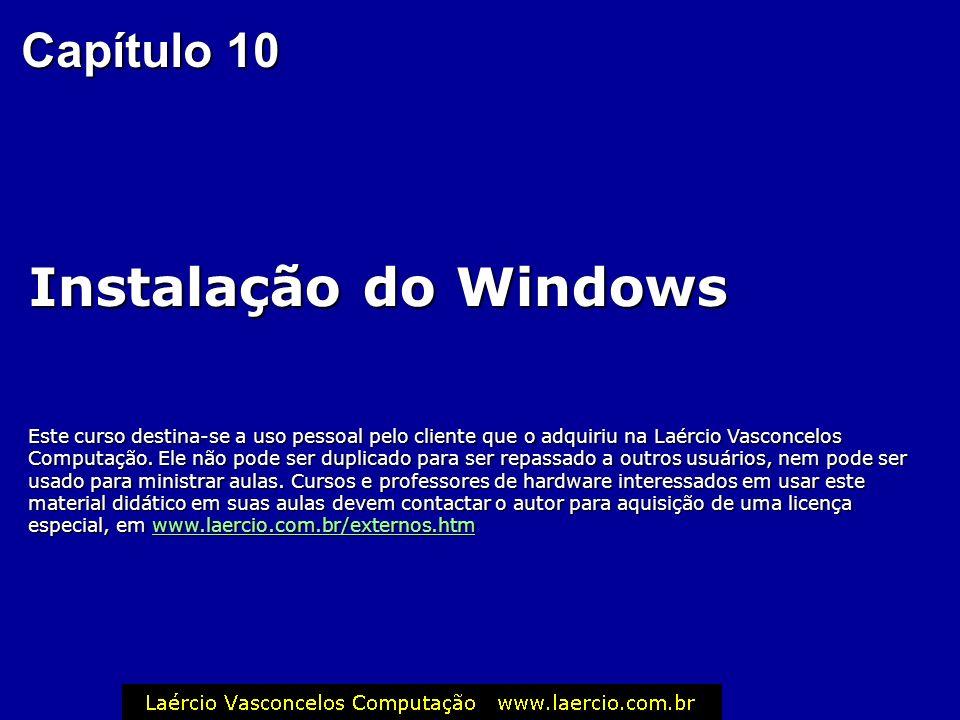 Instalação do Windows Capítulo 10